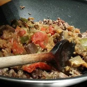 Rajouter votre mélange de légumes cuits...
