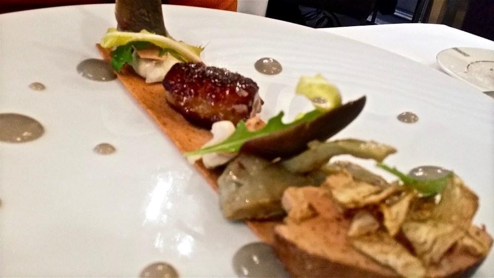 Un classique...Foie gras et Artichauts...plusieurs textures. Une version n°10 qui nous a conquis!