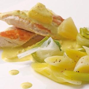 Poireau et ananas - Cuisinons les légumes ©.