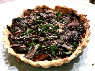 Petite tarte aux légumes verts et champignonPetite tarte aux légumes verts et champignon