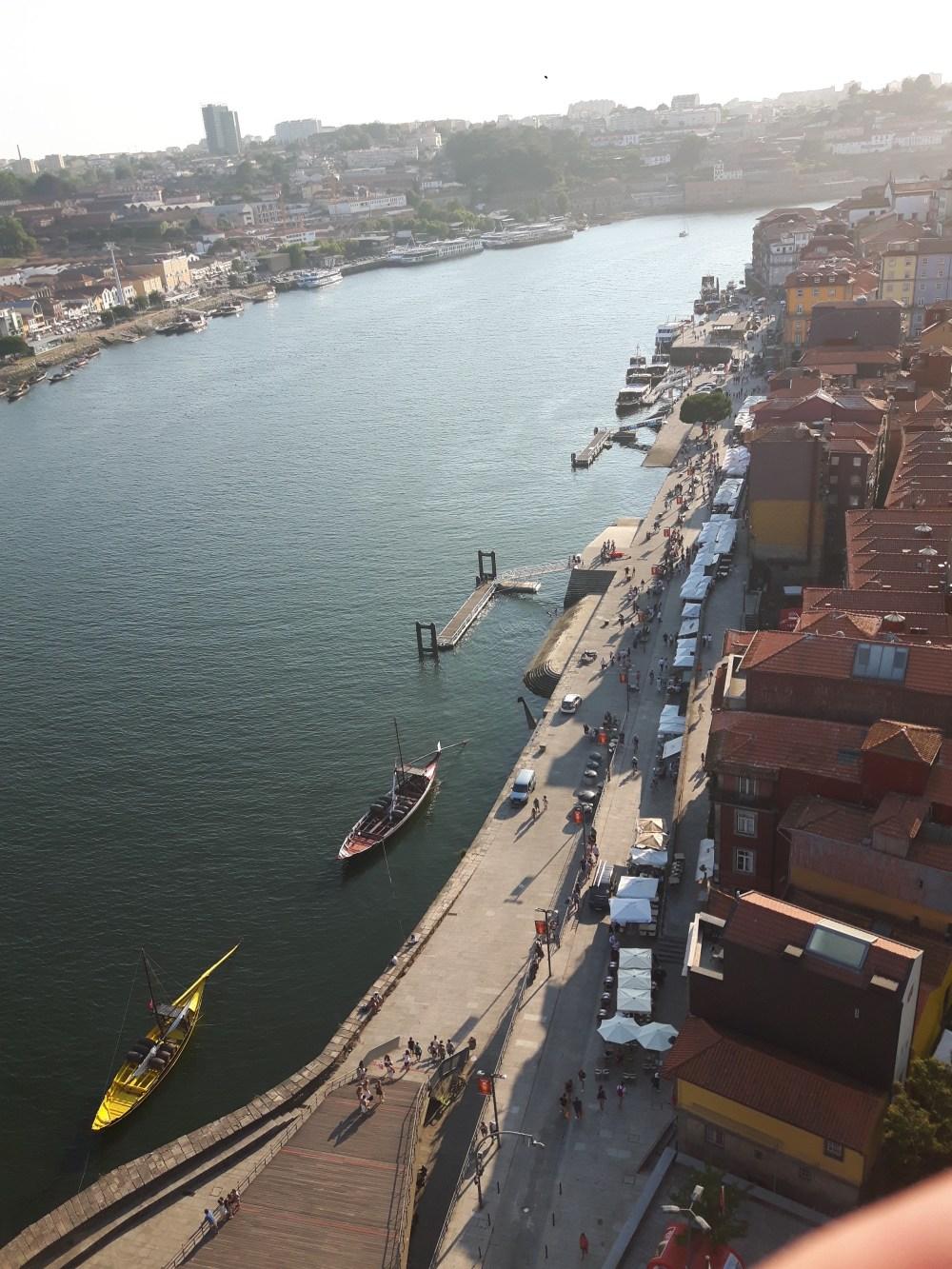 Vue depuis le Pont Maria Pia sur la rive Ribeira