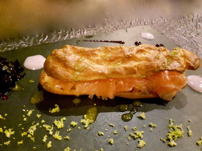 Eclair de saumon fumé (maison)