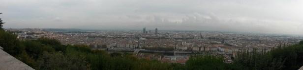 Le panorama depuis Fourvière