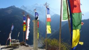 Vue depuis le Gompa (temple tibétain)