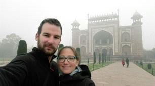 Dans les jardins du Taj
