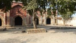 Les ruines du parc de l'archeological survey of India