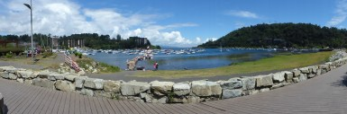 Le bord du lac prend des airs de station balnéaire