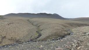 La dernière montée n'offre pas de paysages de verdure...