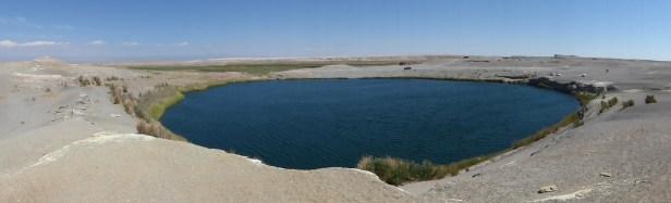 La laguna Inca Coya, trou d'eau parfaitement rond