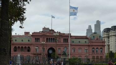 La Casa Rosada, sur la Plaza de Mayo
