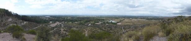 Vue sur Mendoza depuis une colline proche du Cerro de la Gloria
