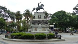 La statue équestre de San Martin