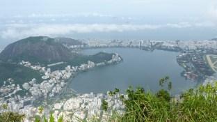 Le lac Rodrigo de Freitas est immense
