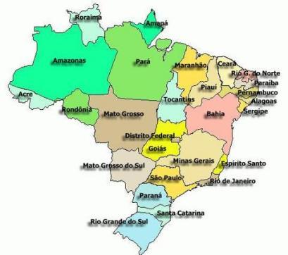Etats du Brésil - source: www.flickr.com