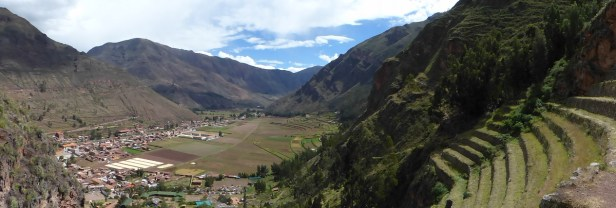 Vue sur la vallée où coule l'Urubamba