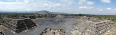 Vue depuis le sommet de la pyramide de la Lune