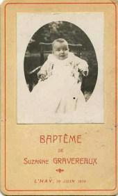1910-06-19 Gravereaux, Suzanne - Bapteme - JLM0009_wp