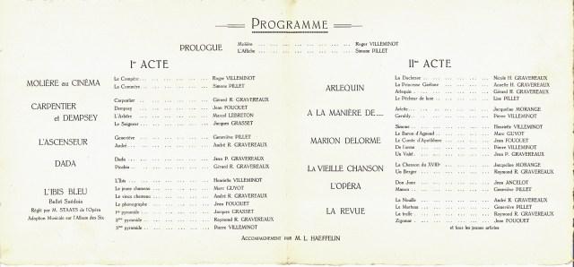 1922 L'Impromptu de Grenelle - Programme p2_wp