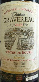 Chateau Gravereau 2003 03a_wp