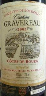 Chateau Gravereau 2003 03a_wp