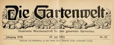 1913 Die Gartenwelt p493