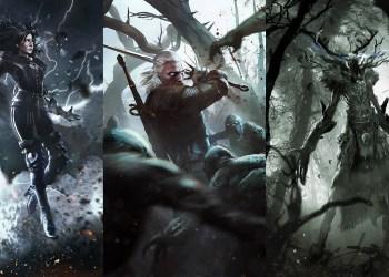 Катакан, Йеннифер, Геральт, Леший, Трисс Меригольд. Ведьмак 3: Дикая охота (The Witcher 3: Wild Hunt)