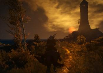 Геральт у маяка. Ведьмак 3: Дикая охота (The Witcher 3: Wild Hunt)