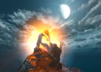 Геральт у камня силы. Ведьмак 3: Дикая охота (The Witcher 3: Wild Hunt)