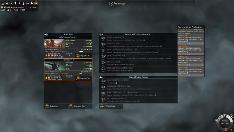 EL - Espionage - Decrease science production