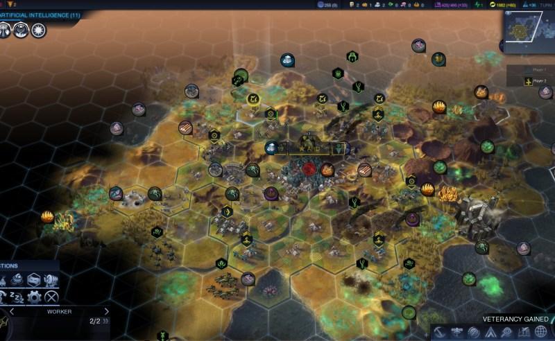 Civilization Beyond Earth — 4 осадных червя рушат всё что можно, а потом уничтожают город
