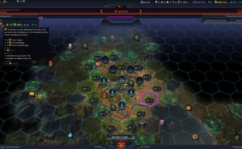 Civilization Beyond Earth — Строительство военного юнита в наземном городе