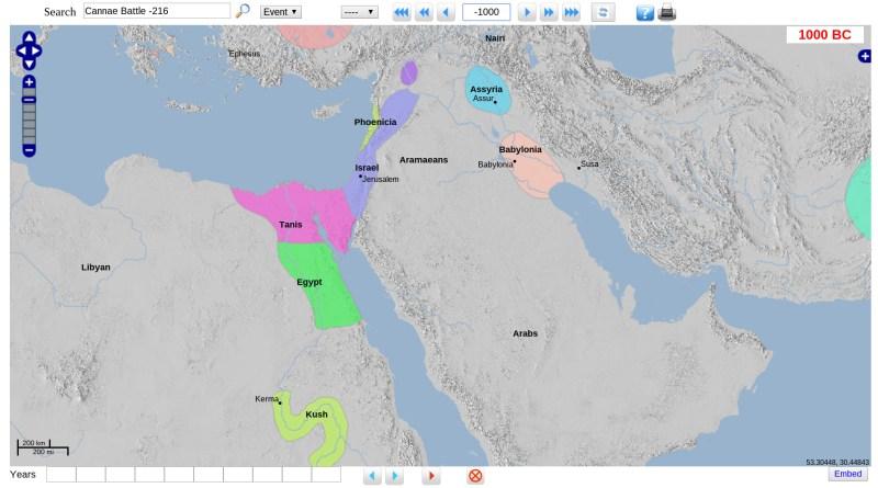 Geacron - Карта Eгипта и Месопотамии