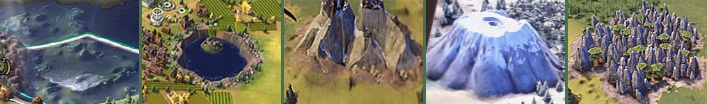 Чудеса природы в Sid Meier's Civilization VI