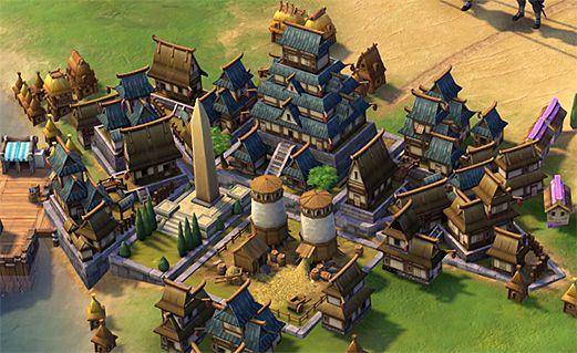 Японский городской центр в Sid Meier's Civilization VI