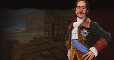 Пётр I - лидер России в Sid Meier's Civilization VI