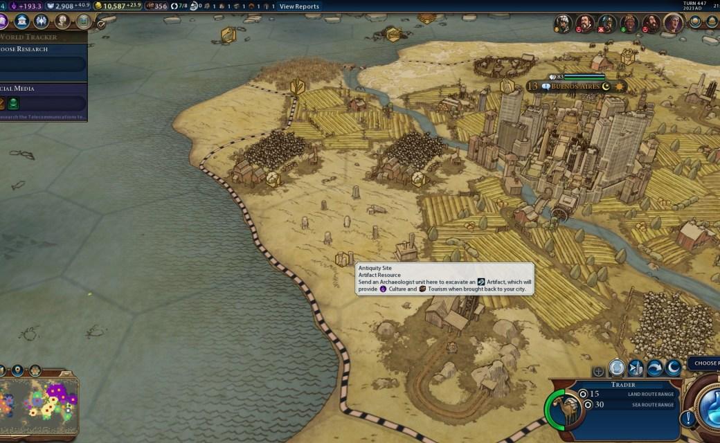 Civilization 6 — Историческое место
