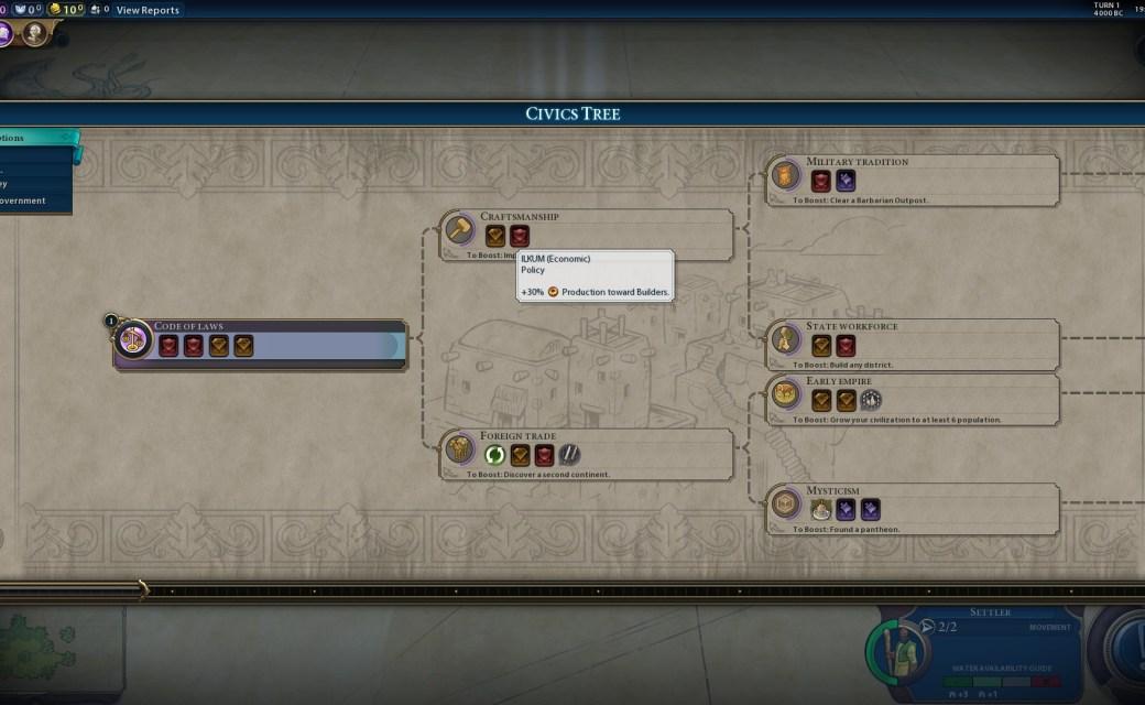 Civilization 6 — Политика «Илкум»