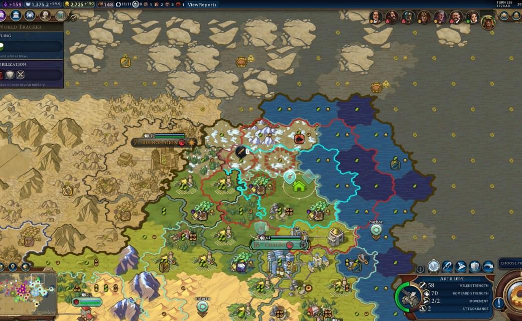 Civilization 6 — Артилерия вместе с воздушным шаром