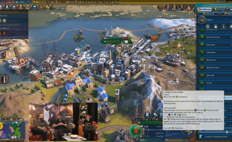Civilization VI — Gathering Storm — Проект для конвертации текущей электростанции в нефтяную электростанцию