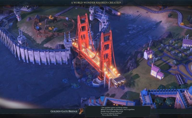 Civilization VI — Gathering Storm — Мост-чудо «Золотые ворота»