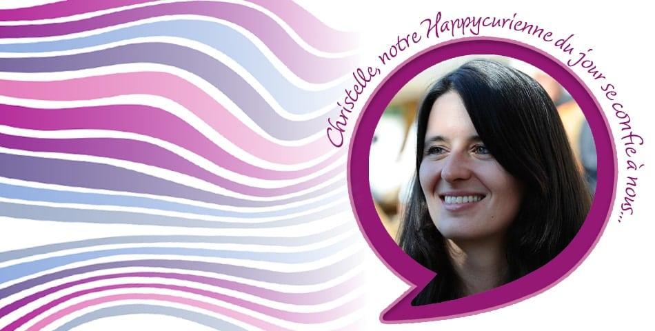Christelle, fidèle happycurienne, adepte de L'Optimiste et du bonheur