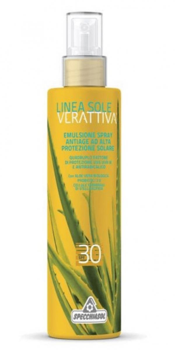 Emulsion Solaire SPF 30 Haute Protection anti age – Verattiva