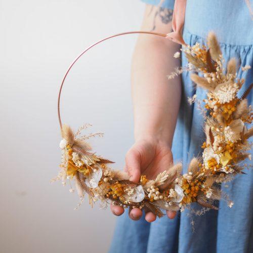 Atelier demie-couronne de fleurs séchées – 11 novembre