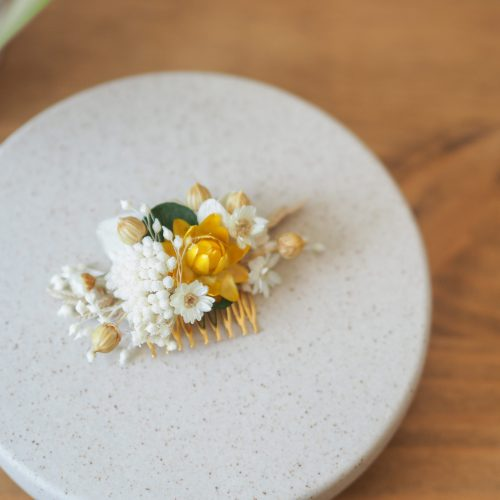Mini-peigne blanc safran