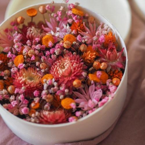 Coffret fleuri Daphnée (réalisé à la commande)