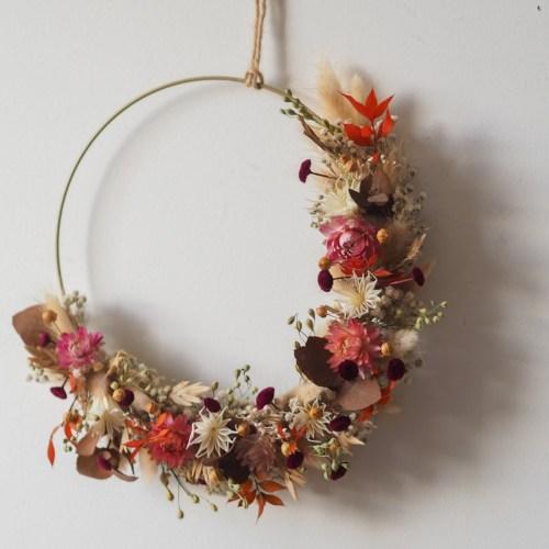 Atelier Demie-couronne de fleurs séchées – Dimanche 11 Avril