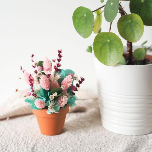 Mini pot fleuri Paula (réalisé à la commande)