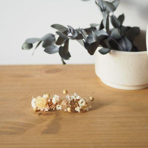 Mini-barrette de fleurs séchées