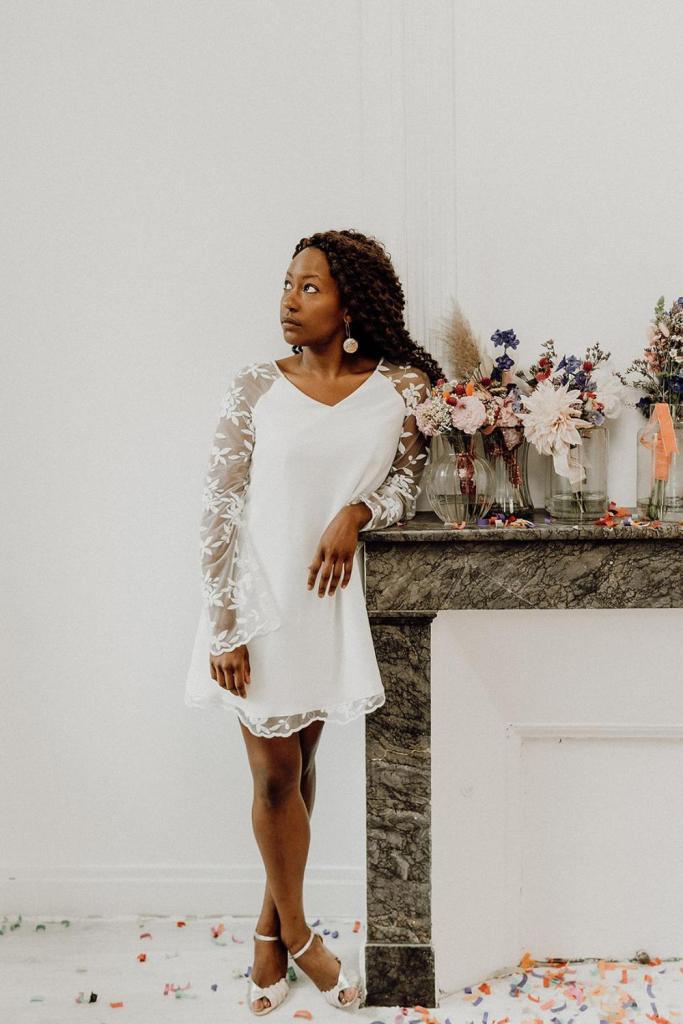 Mariée robe courte
