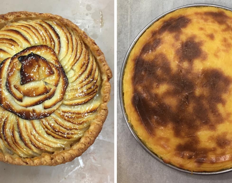 Recette CAP pâtissier, semaine 1 : Tarte aux pommes avec pâte sucré + Flan avec pâte brisé